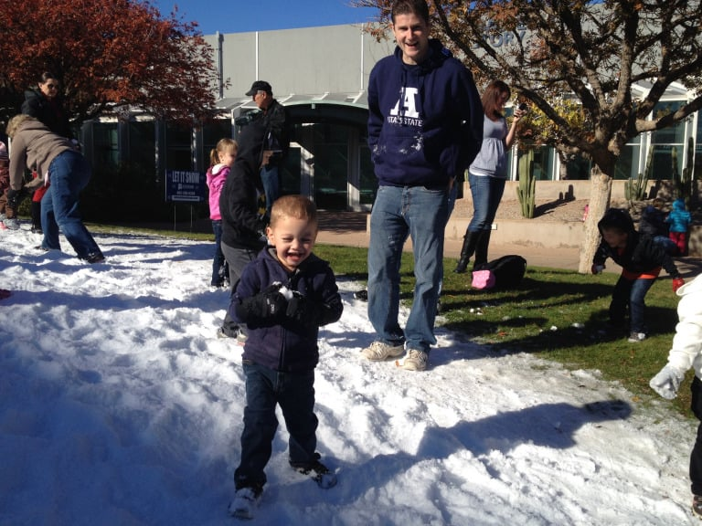 Christmas events in Phoenix snow