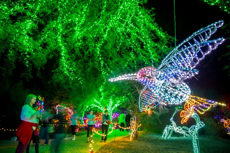 christmas events in phoenix zoo lights
