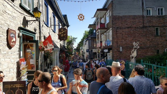 A stroll through the cobblestone streets of Old Quebec is a must when visiting the city