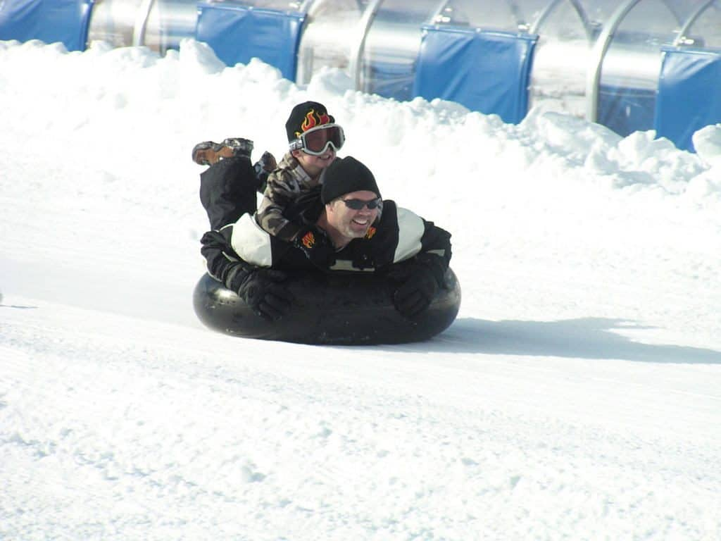 Big Bear Snow tubing with kids