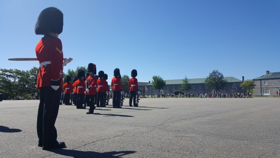 In Quebec City you can see the changing of the guard