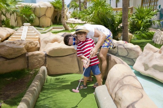 Mini Golf is just one of the kid-friendly offerings at Seadust Cancun