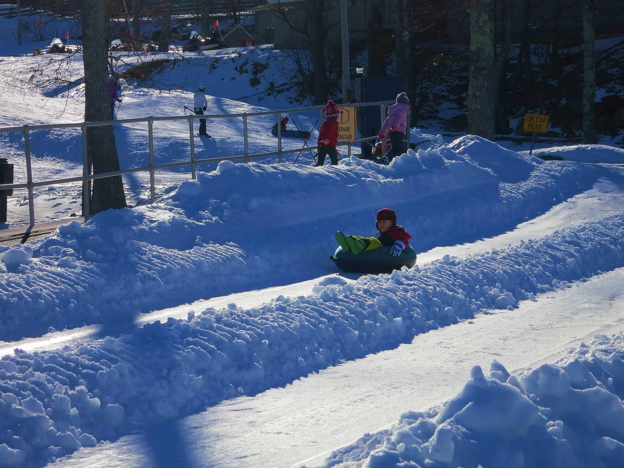 Snow Tubing for Toddlers and Kids on the East Coast