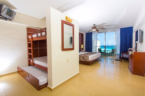 seadust cancun family resort's family rooms feature bunk beds for kids