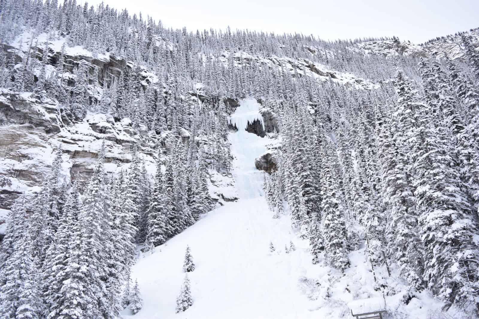 Banff Frozen Waterfall Banff in winter