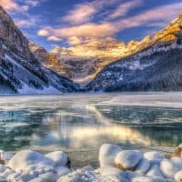 Banff National Park Exploring lake Louise in the Winter