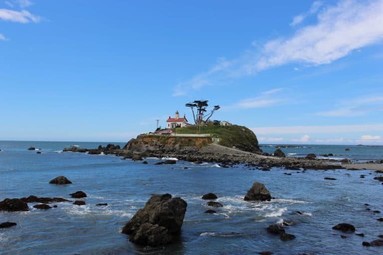 Battery-Point-Lighthouse-Crescent-City-by-Michelle-McCoy Redwood National Park with kids