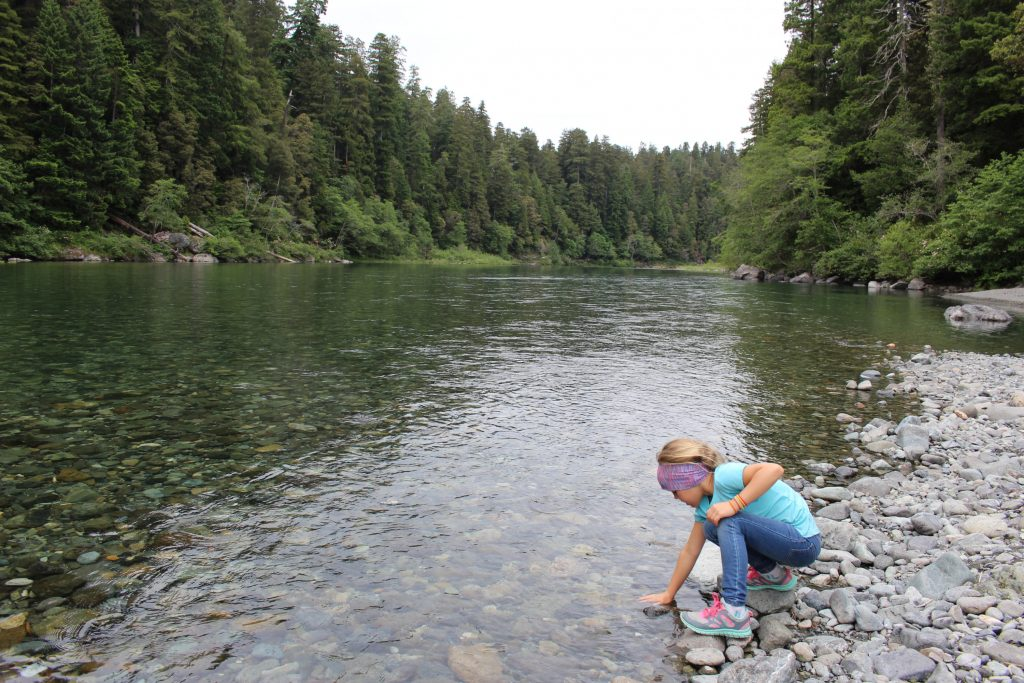 Jedediah-Smith-State-Park-River-with-kids-by-Michelle-McCoy Redwood National Park with kids