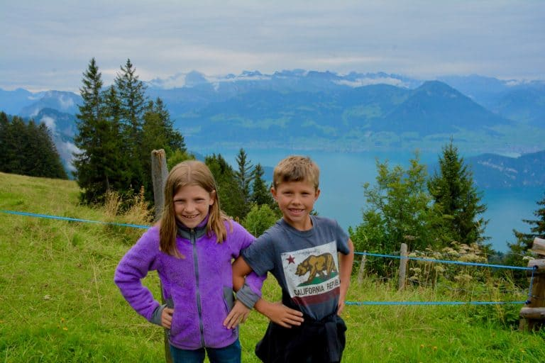 Switzerland Travel with Kids to Mount Rigi and Lake Lucerne