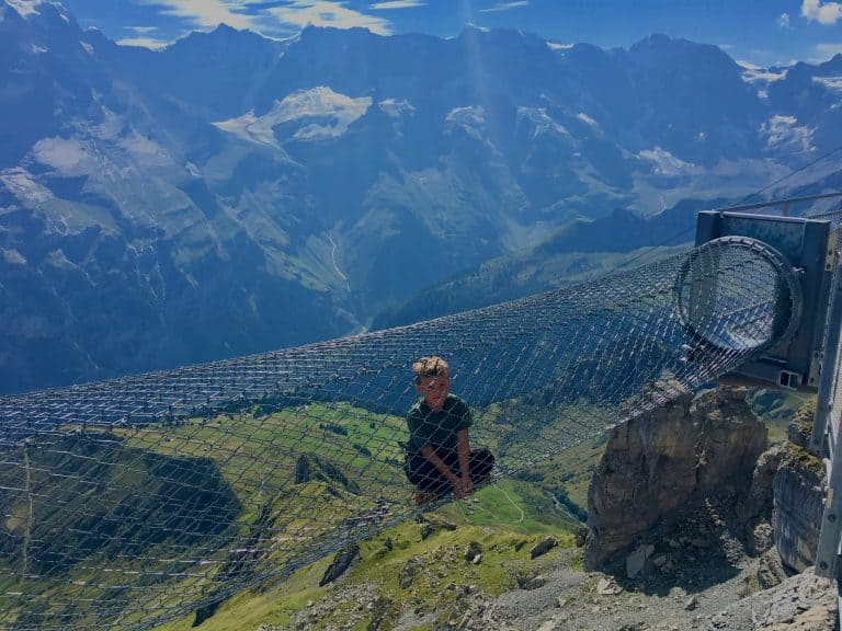 Switzerland with Kids Birg Thrill Walk at Schilthorn