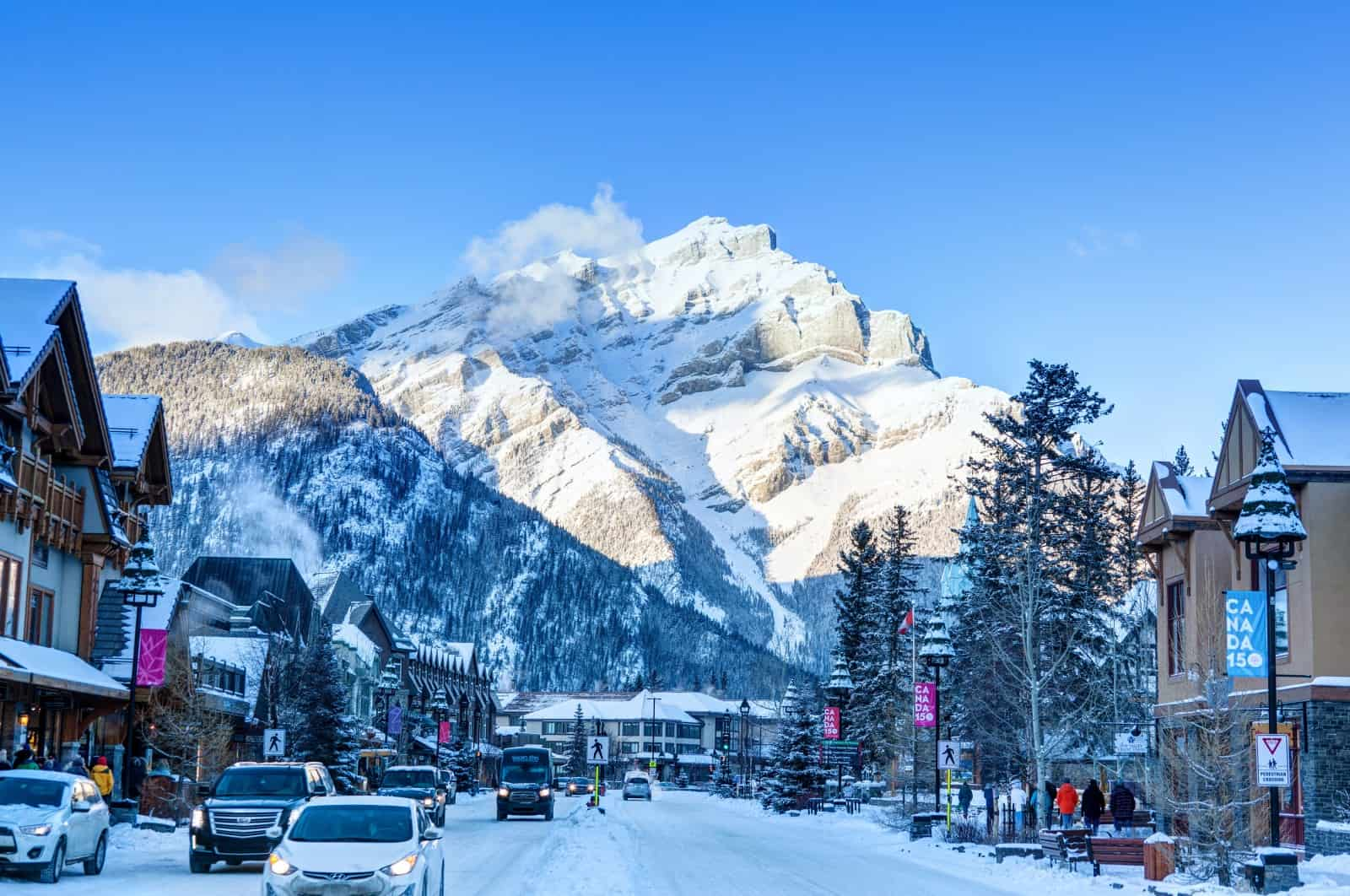 Wander downtown Banff in the Wintertime Banff in winter