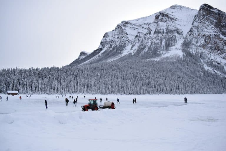 Ice Skate in Banff National Park Banff in winter