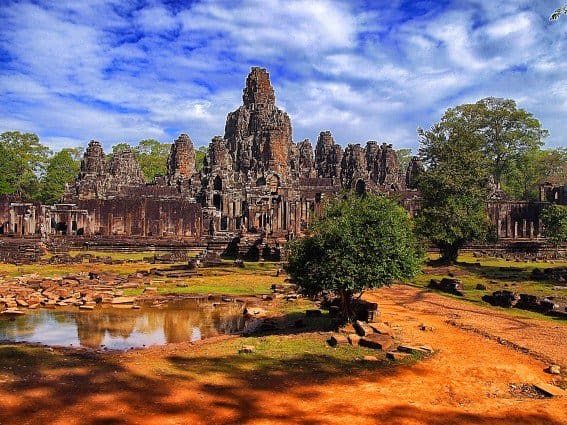Temples in Anchor Archeological Complex, Cambodia