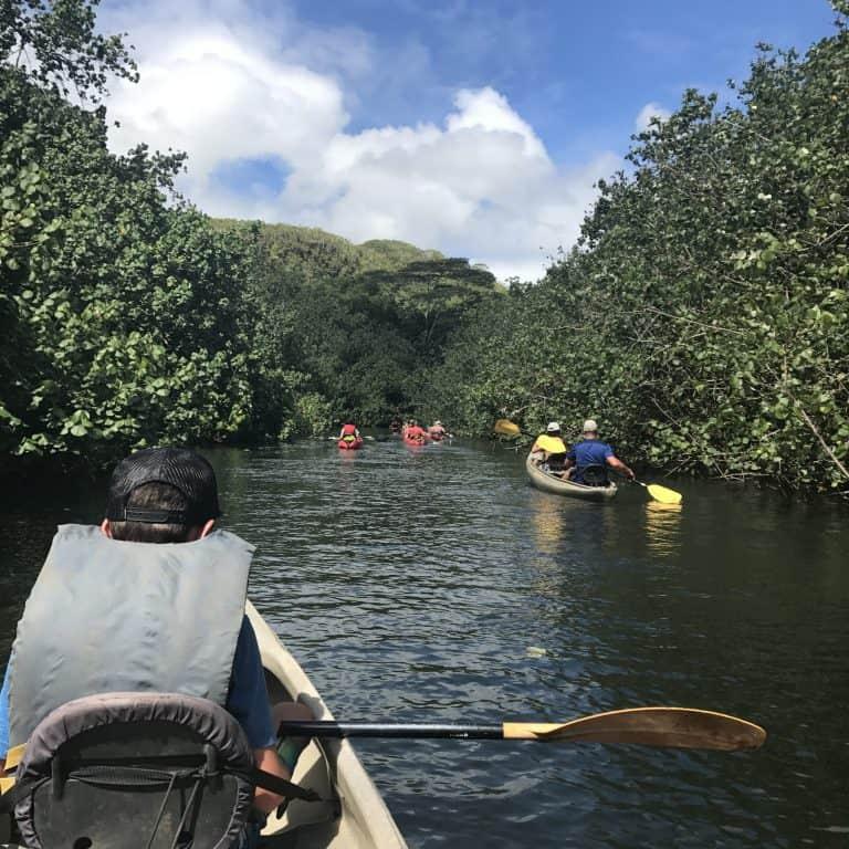 Kayaking the Wailua River Kauai