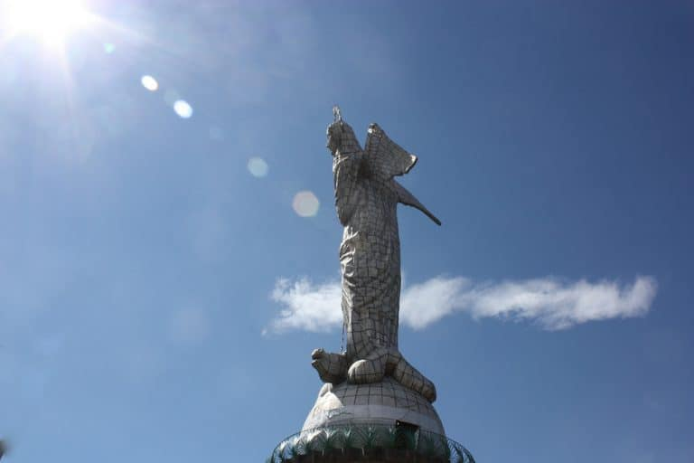 Quito Ecuador - The Winged Angle at Panecillo