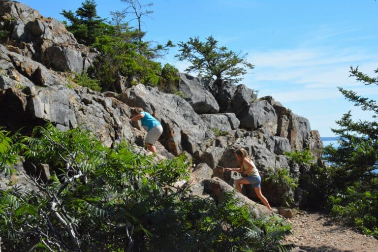 Best National Park Hiking can be found in Acadia National park