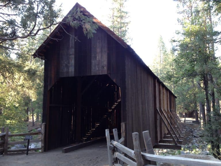 Covered Bridge at the Pioneer Yosemite History Center |