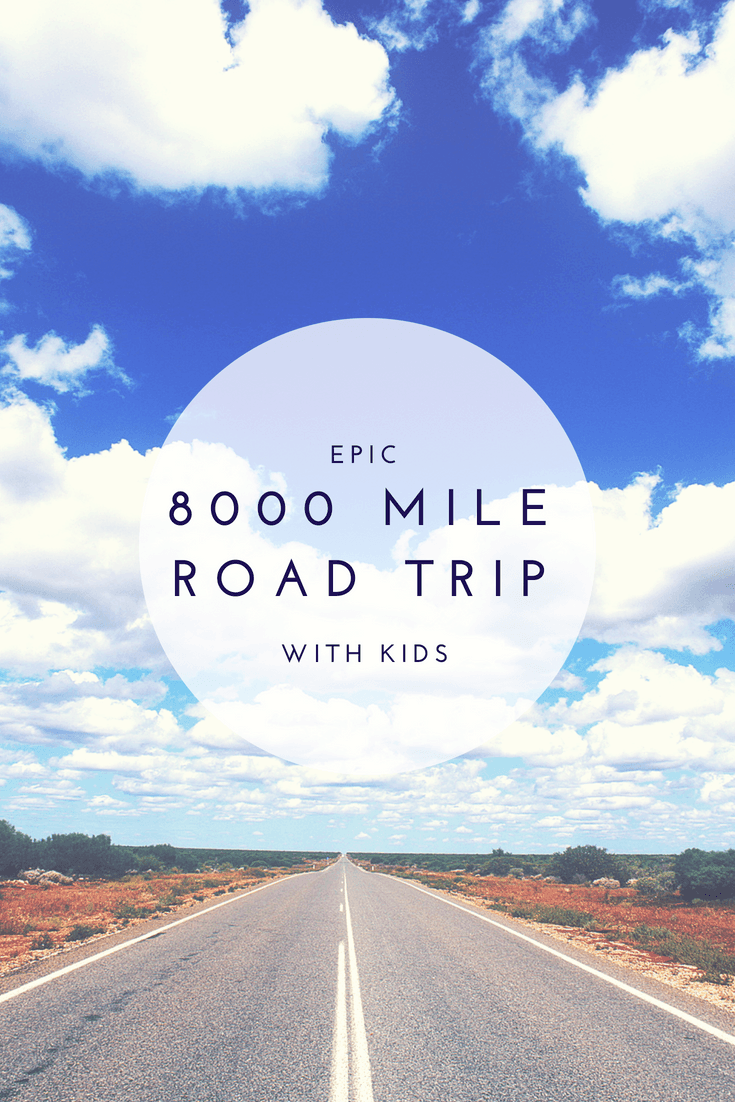 Follow along on an epic 8000 mile road trip with kids #familytravel #roadtrip Photo by Canva.