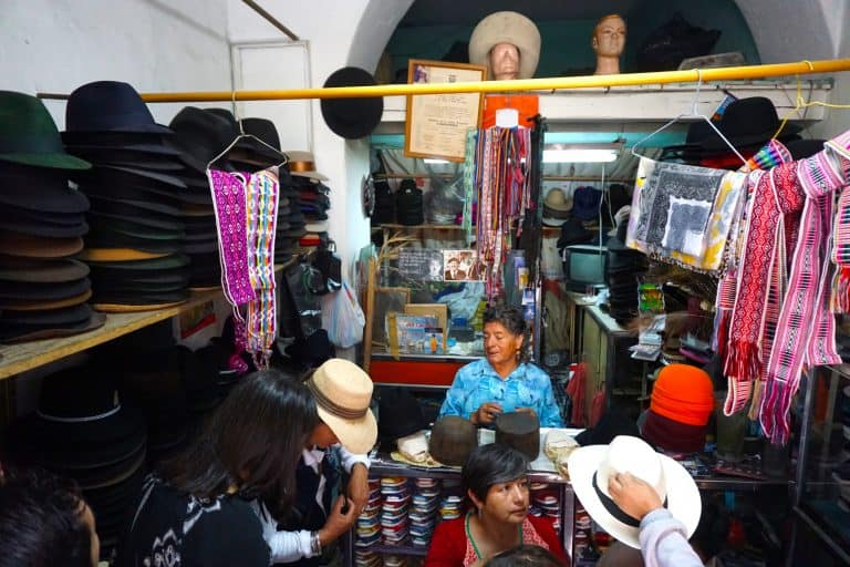 Old Town Quito Ecuador Hat Shop