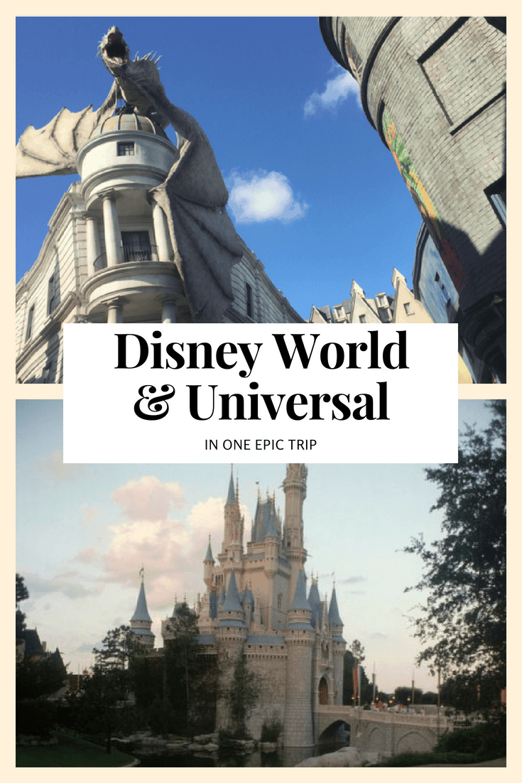 DISNEY WORLD & UNIVERSAL. Explore these tips for an epic Orlando vacation visiting BOTH Walt Disney World and Universal Studios Florida in one trip. Image by Universal & Disney.