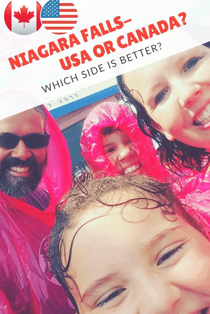 Wondering if it is better to see Niagara Falls from the US or the Canadian side? We've got insider tips on what to expect on both sides of the border. #niagarafalls #familytravel