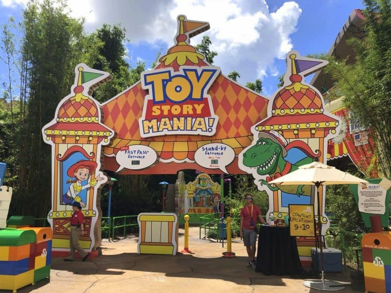 Toy Story Land ride entrance