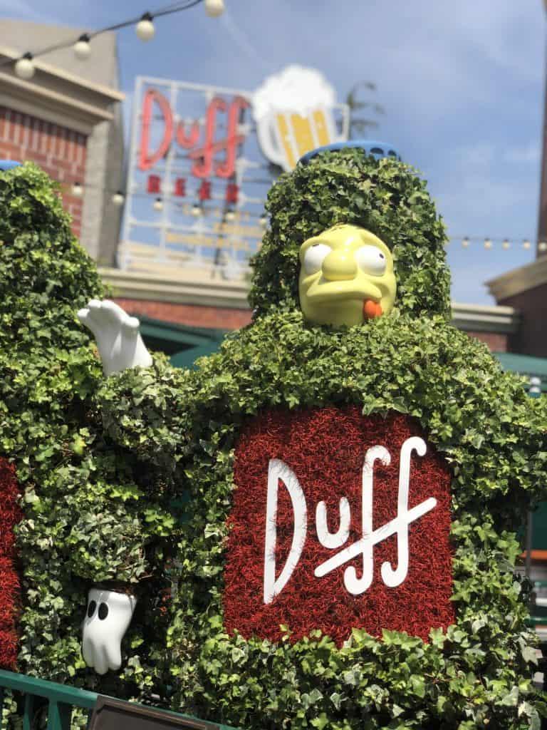 Duff Gardens in Universal Studios