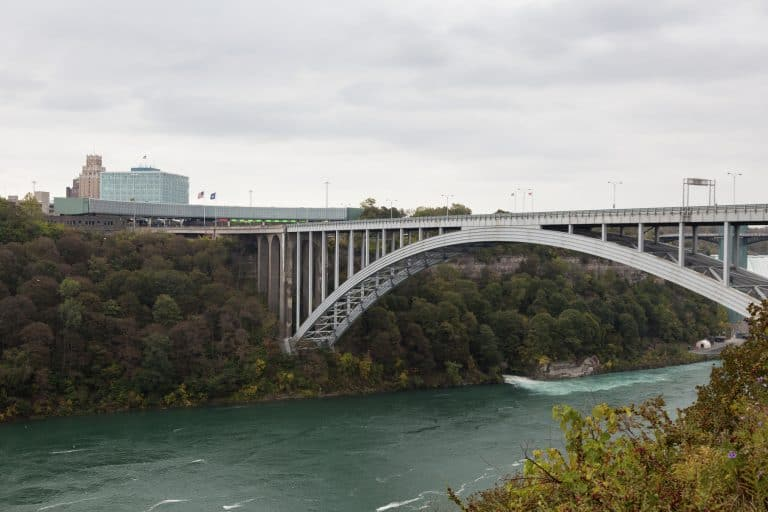 NIagara Falls Canada is accessed by a bridge