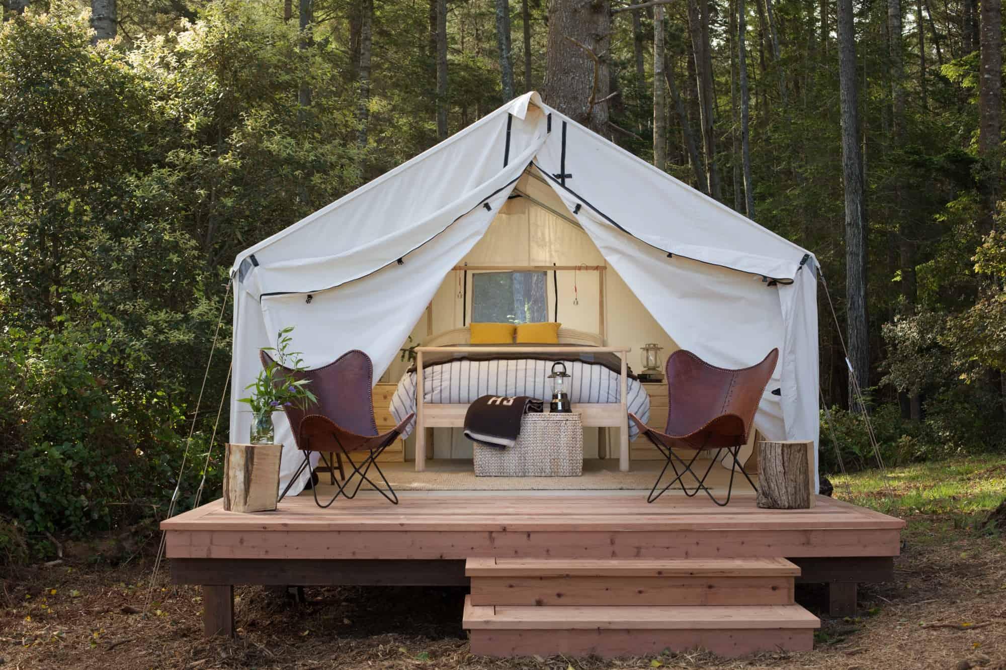 Camping Made Comfy at Mendocino Grove
