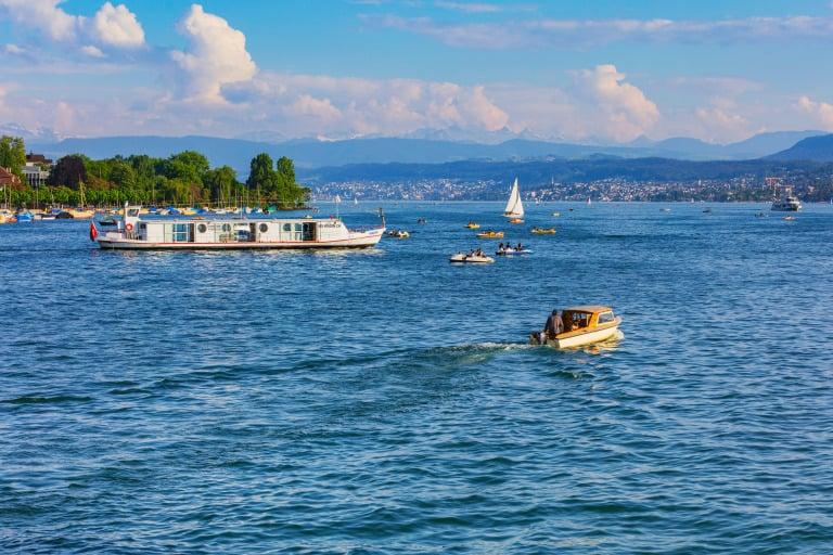 Zurich with kids lake
