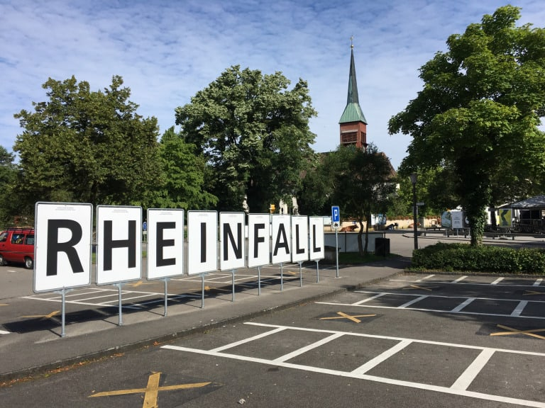 Zurich with kids Rhinefall