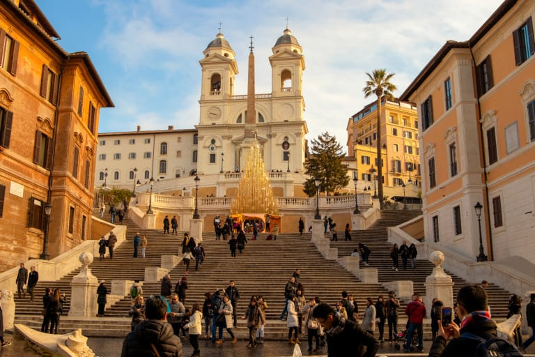 Things to do in Rome with kids Spanish Steps