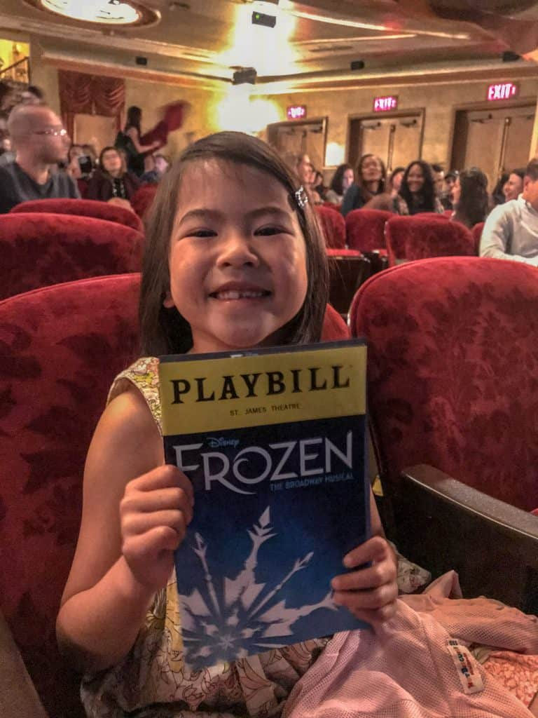Watching Frozen on Broadway at St. James Theatre