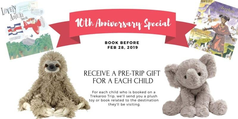 10th Anniversary Special - Receive a pre-trip gift for each child