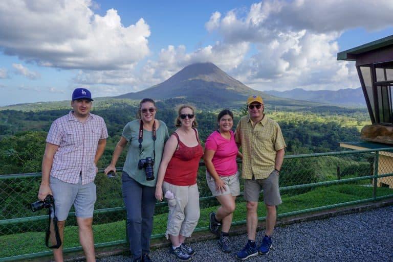 Arenal Volcano La Fortuna from Mistico Park