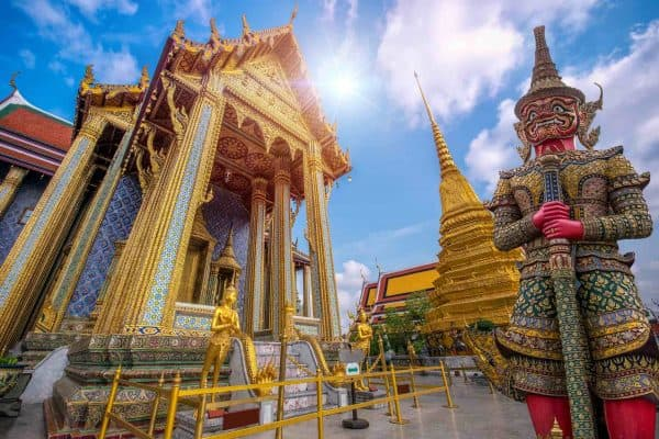 Grand Palace And Wat Pra Keaw In Bangkok, Thailand