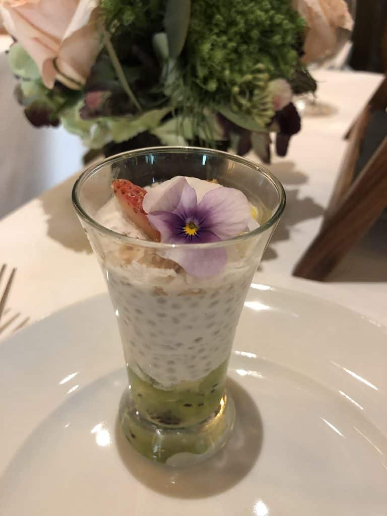 Chia seed and granola parfait Disney Princess Breakfast Adventures