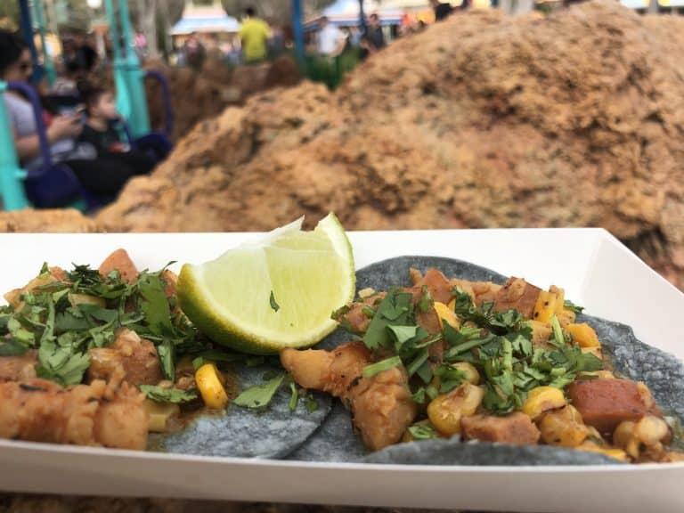 California Adventure Food and Wine Festival Shrimp Boil Tacos