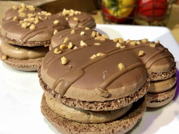 Caramel-Peanut Milk Chocolate Macaron