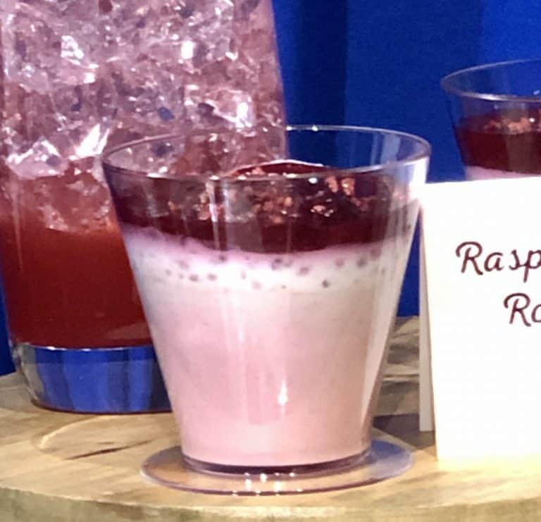 Raspberry Lychee Rose Custard at the Disney California Adventure Food and Wine Festival