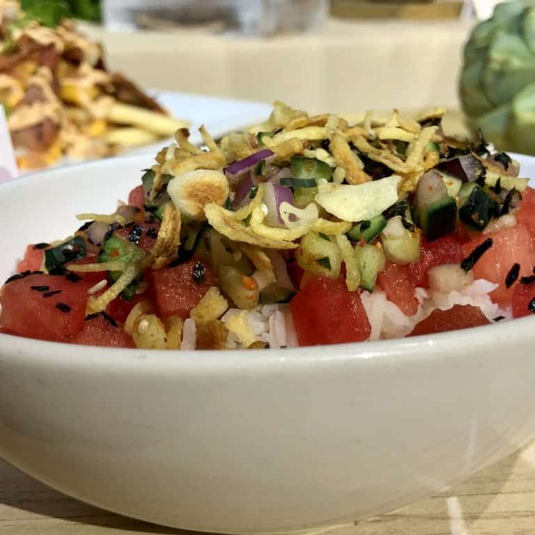Try the Watermelon Poke at the Disney California Adventure Food and Wine Festival