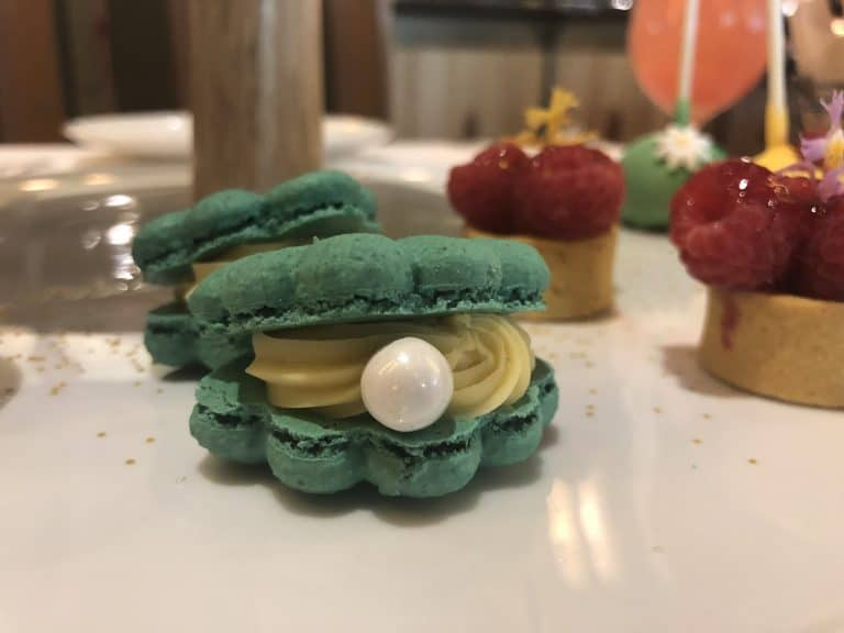 seashell macarons Disney princess breakfast adventures