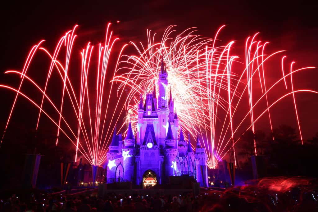 fireworks magic kingdom photo