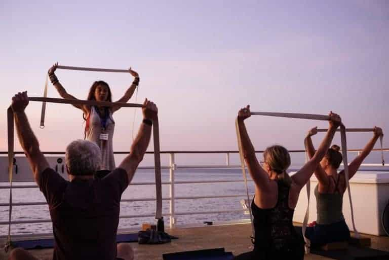 Uncruise Safari Voyager Sunrise Yoga