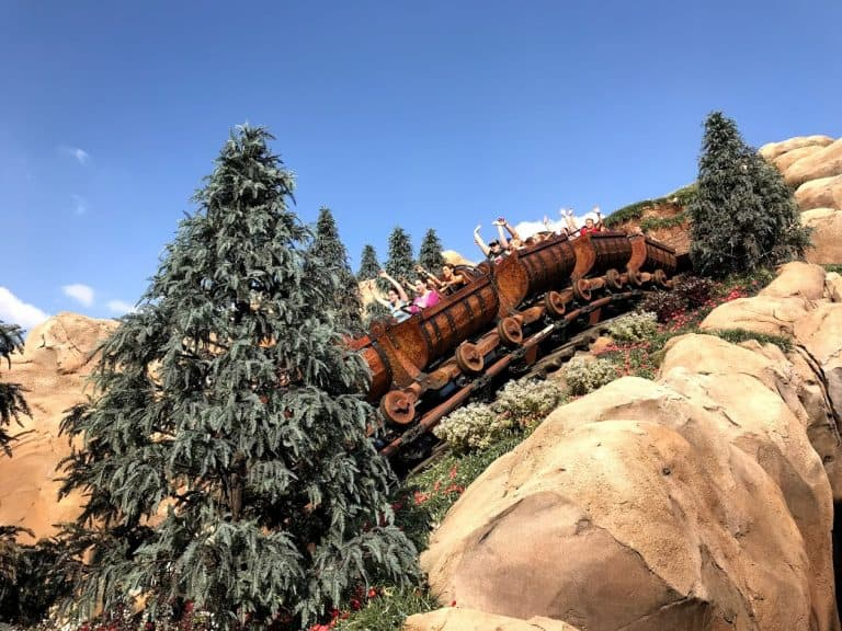 Magic Kingdom: Seven Dwarfs Mine Train.
