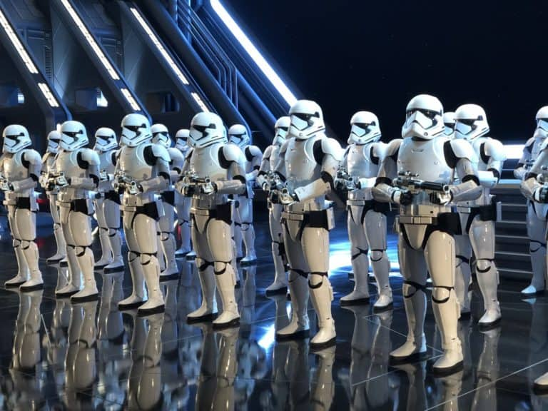 Stormtroopers at Star Wars Rise of the Resistance