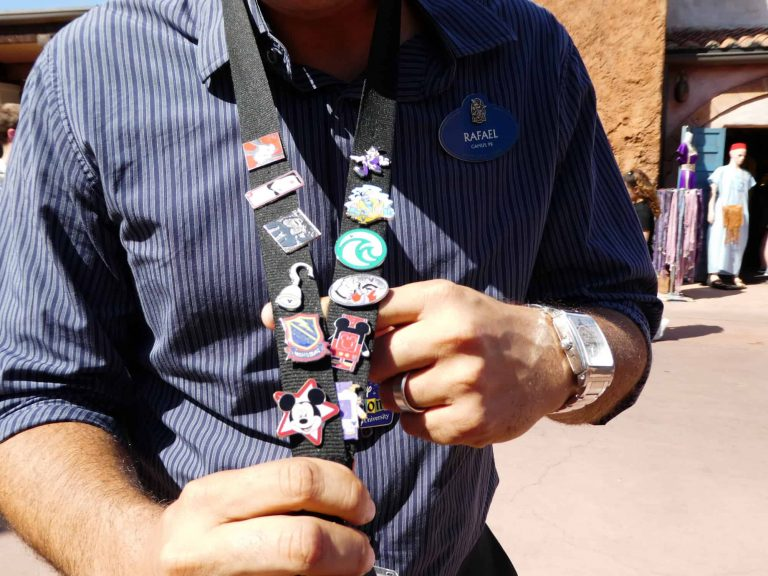 Disney pin trading: Castmember lanyards