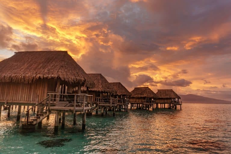 Overwater bungalows at Sofitel Ia Ora Resort in Moorea, Tahiti