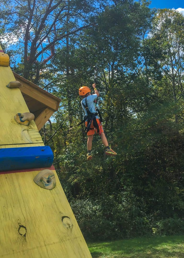 Things to do in Asheville with Kids Adventure Center Zip Line