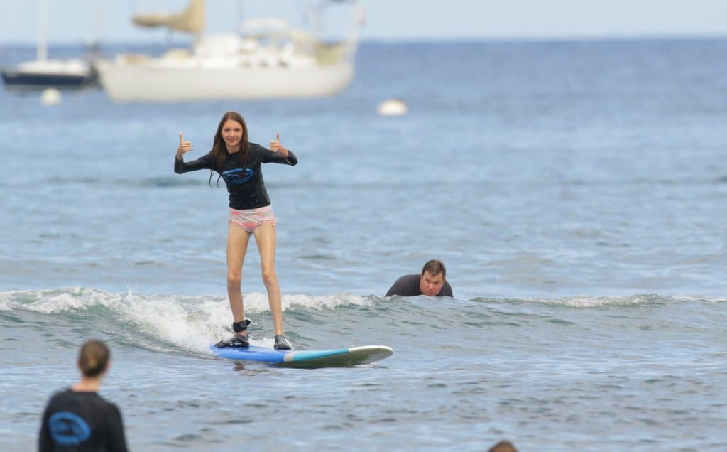 Things to do in Maui with kids surfing
